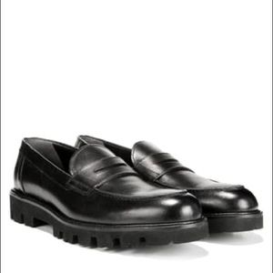 Vince Comrade Black Leather Loafers